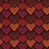 Raster seamless texture of the roof cover, tile with rhombuses royalty free stock photos