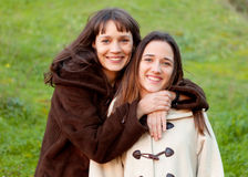 Nice sisters with blue eyes Stock Photography