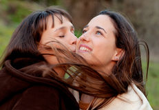 Nice sisters in a park Royalty Free Stock Photography