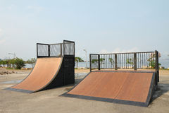 Nice skate and other sports park Stock Photos