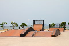 Nice skate and other sports park Royalty Free Stock Photos
