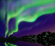 Nice sky. With green aurora at the north Stock Photo