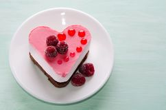 Nice small cake in the form of heart Stock Photography