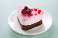 Nice small cake in the form of heart Stock Image