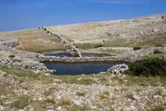 Nice small mountain pond, Dviska pond, Croatia royalty free stock photo