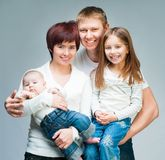 Nice smiling family Royalty Free Stock Images