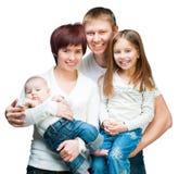 Nice smiling family Royalty Free Stock Photos