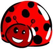 Nice smiling Ladybug isolated Stock Images