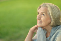 Nice smiling old woman Stock Photos