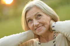 Nice smiling old woman Royalty Free Stock Photos