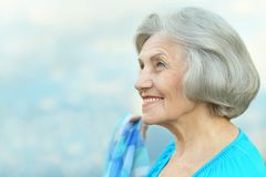 Nice smiling old woman Royalty Free Stock Photography