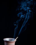Nice smoke. On a black background Royalty Free Stock Images