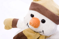 Nice snowman. With hat and scarf Stock Photos