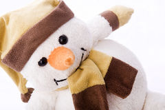 Nice snowman. With hat and scarf Royalty Free Stock Photo