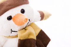Nice snowman. With hat and scarf Stock Images