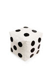 Nice and soft beanbag chair in shape of dice Royalty Free Stock Image