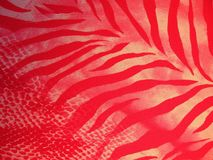 Beautiful red fabric with leaves Stock Image