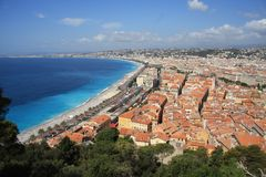 Nice, South of France. It's nice in Nice, especially on a perfect summer day Stock Images