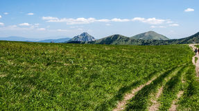 Nice spring day in Mala Fatra mountains in Slovakia Royalty Free Stock Photography