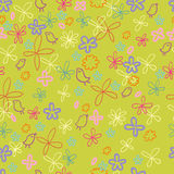 Nice spring floral pattern. With cute birds in vector Royalty Free Stock Photography