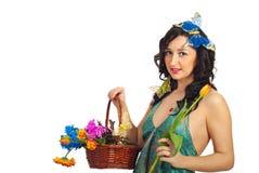 Nice spring girl Royalty Free Stock Photography