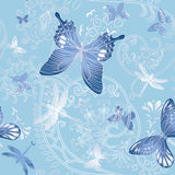 Nice spring seamless with butterfly and flower Royalty Free Stock Photography