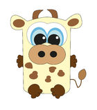 Nice square cow.  Royalty Free Stock Photography