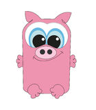 Nice square pig.  Royalty Free Stock Photography