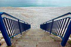 Nice - Stairs to beach Royalty Free Stock Images