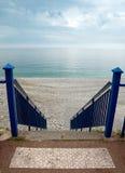 Nice - Stairs to beach Stock Photo