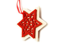 Nice star Christmas ornament Stock Images