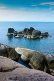 Nice stone island at Samui island. Thailand royalty free stock photo