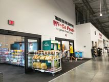 Store WinCo exit and entrance TX USA Royalty Free Stock Photography