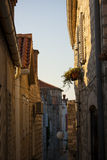 Nice street in old city of Rab Stock Photography