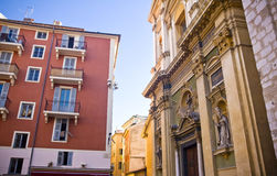Nice. The streets of old Nice. France stock photography