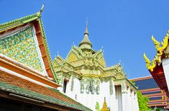 Nice Stupa in Wat Pho Temple Stock Photos
