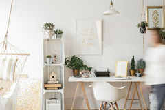 Nice and stylish home office Stock Photos