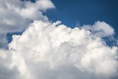Summer blue sky and clouds background. Nice summer day clouds blue sky Stock Images