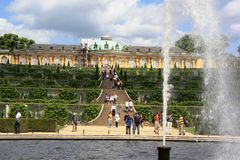A nice summer day at Sanssouci Palace, Potsdam Stock Photos