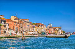 Nice summer venetian seaview in Venice, Italy, HDR Stock Photo