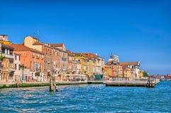 Nice summer venetian seaview in Venice, Italy, HDR Stock Photo