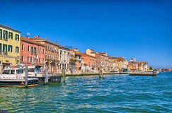 Nice summer venetian seaview in Venice, Italy Stock Photo