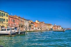 Nice summer venetian seaview in Venice, Italy Stock Photo