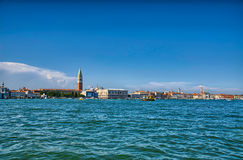 Nice summer venetian seaview in Venice, Italy Royalty Free Stock Images