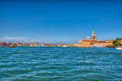 Nice summer venetian seaview in Venice, Italy Royalty Free Stock Image