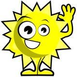 Nice Sun cartoon isolated Royalty Free Stock Image