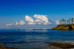 Nice sunny Day at the Beach. Early morning view from Laguna Beach of the clouds and ocean Royalty Free Stock Photography