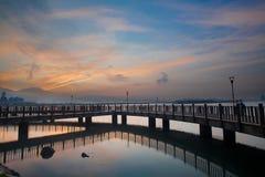 Nice Sunrise with nice sky, the new Taipei, Taiwan Stock Photography