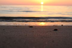 The nice sunset at the beach in Italy. This photo was Made on a afternoon in a place that called Marina di Massa in Italy with a view to the ocean. There was a stock photo