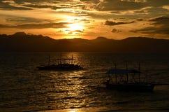 Nice sunset in Cebu, Philippines Stock Photo
